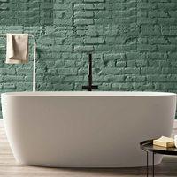 Portofino vasca da bagno freestanding 160 x 70 x 61,5 in BluStone colore bianco