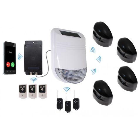 HY Outdoor Solar Wireless Siren Alarm Kit 3 & Battery GSM Auto-Dialler - No SIM Card Thank You [005-2810]