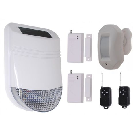 HY Solar Wireless Siren House Alarm Kit 3 [005-6230]