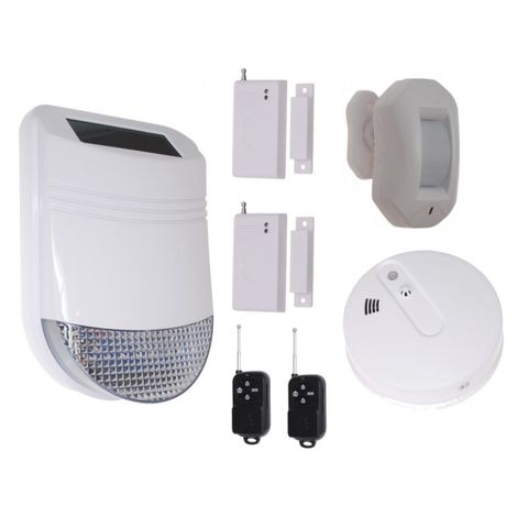 HY Solar Wireless Siren House Alarm Kit 4 [005-6240]