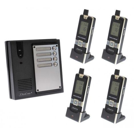 4 x Property 600 metre Wireless UltraCom4 Intercom - No Battery Back Up Please [006-1830]