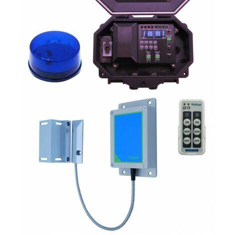 Long Range Wireless Gate Alert with Outdoor Receiver & Flashing Strobe [004-5430]