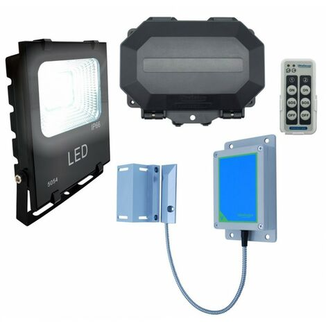 Wireless Gate/Door Left Open Alert with a 12v Security Floodlight (Protect-800) [004-5550]