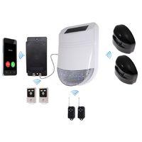 HY Outdoor Solar Wireless Siren Alarm Kit 2 & Battery GSM Auto-Dialler - No SIM Card Thank You [005-2800]