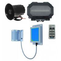 Long Range Wireless Gate Alarm with Outdoor Receiver & Loud 6-tone Siren [004-5440]