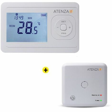 Thermostat Programmable sans Fil + Récepteur HF ATENZA