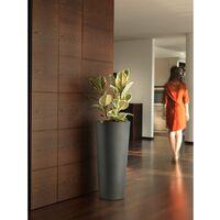 Vaso alto Cache-pot Veca Clou Rotondo Altezza 65 cm- con Cache Pot Antracite