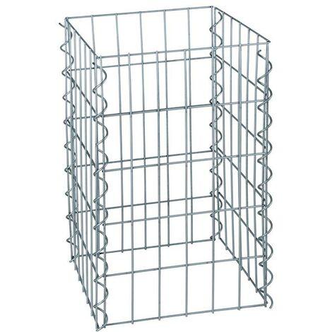 Colonne gabion panier en pierre carré gabions colonne 50/100/150/200cm hauteur 0,50 m