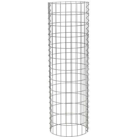 Gabion pierre gabions corbeille en fil colonne gabion ronde Ø 35 cm 1,20 m