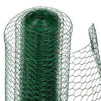 Fil de fer hexagonal pour clôture à lièvres 1,00 x 10m Fil de fer à mailles vert