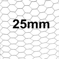 Ensemble de clôture grillagé hexagonal fil de clôture 1,20 x 10 m clôture 25 mm
