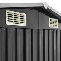 Abri à outils de jardin en métal Abri de jardin 257x205x178cm toit de selle gris