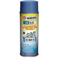 Spray vernice smaltata per targhe rinnova manutenzione veicolo in blu/bianco Colore - Bianco