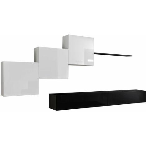 Conjunto de muebles Berit 3D negro y blanco (3,3m)