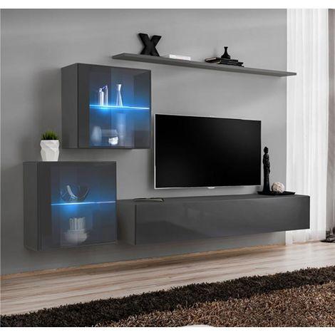 Conjunto de muebles Berit 6E gris (2,1m)
