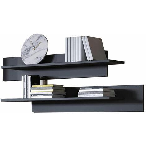Conjunto de dos estantes modelo Luke en color negro