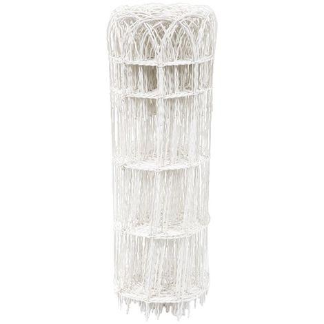 Bordure parisienne grillage plastifié blanc Filiac - Hauteur 0,4 m - Longueur 10 m
