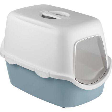 Maison toilette pour chat filtre Cathy Zolux - Gris bleu - Bleu et gris