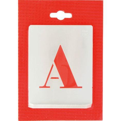 Jeu de lettres pochoirs alphabet aluminium ajouré Uny - Dimensions 60 mm