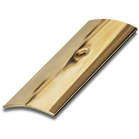 Bande de seuil adhésive laiton poli Dinac - Longueur 73 cm - Largeur 30 mm