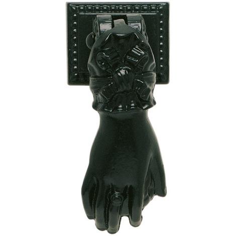 Marteau de porte fonte époxy noire Jardinier Massard - Longueur 13 cm