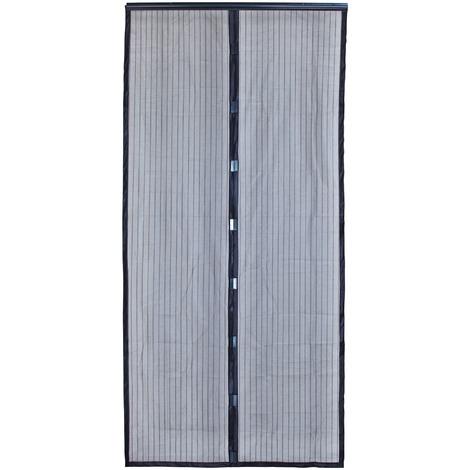 Rideau moustiquaire de porte aimanté Moustimagnet Morel - Largeur 100 cm - Aluminium