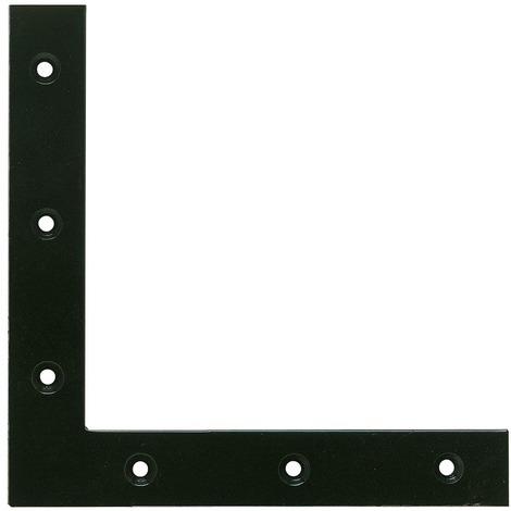 Equerre de fenêtre bouts carrés phorétique noir Jardinier Massard - Dimensions 25 x 25 cm