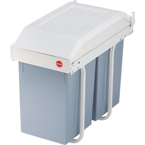 Poubelle de tri encastrable universelle avec deux seaux Multi-box Hailo - Contenance 2 x 15 l - Crème