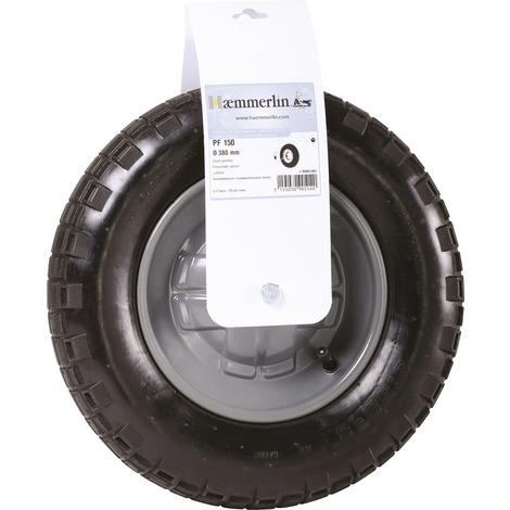 Roue gonflable de brouette standard Haemmerlin - Diamètre 380 mm - PF150 - Noir