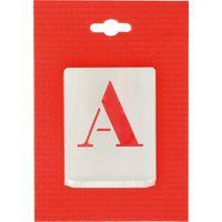 Jeu de lettres pochoirs alphabet aluminium ajouré Uny - Dimensions 50 mm