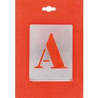 Jeu de lettres pochoirs alphabet aluminium ajouré Uny - Dimensions 80 mm