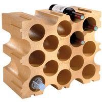 Casier à bouteilles en polystyrène Mottez - Saumon - 15 bouteilles
