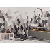 Série Hexagonal Britain Grey 20x24 (carton de 0,98 m2)