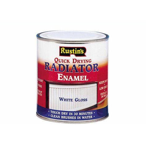 Rustins Quick Dry Radiator Enamel - Gloss White 250ml