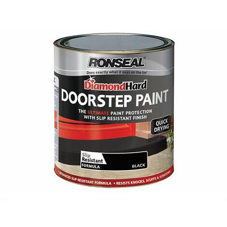 Ronseal Diamond Hard Doorstep Paint - Black 250ml