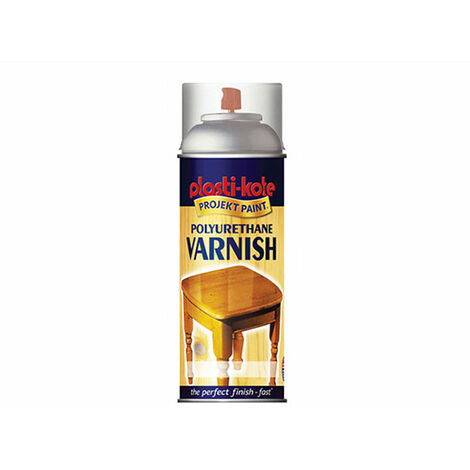 Plasti-kote Polyurethane Varnish Spray - Clear Satin 400 ml