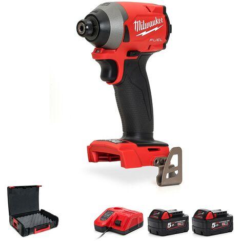 """Milwaukee M18FID2-502X Fuel 1/4"""" Impact Driver Kit With 2 X 5.0Ah Batteries - M18FID2-502X"""
