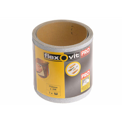 Flexovit 115mm x 5m Finishing Sanding Rolls - 240g