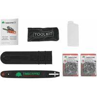 Tronçonneuse thermique 50 cm3, semi pro, guide 40 cm, 2 chaines + housse de transport et accessoires
