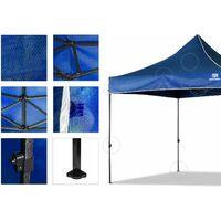 Tonnelle de Jardin Tente de Reception 3mx3m Pliante Impermeable pour Fête,Camping, Festival, Bleu- Mondeer