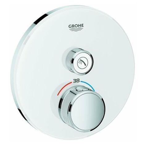 Termostato Grohe Grohtherm SmartControl con una válvula de cierre, rosetón de pared, blanco luna - 29150LS0