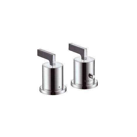 Hansgrohe Axor Citterio Termostato de 2 orificios para bañera con manijas de palanca, color: cromado - 39482000