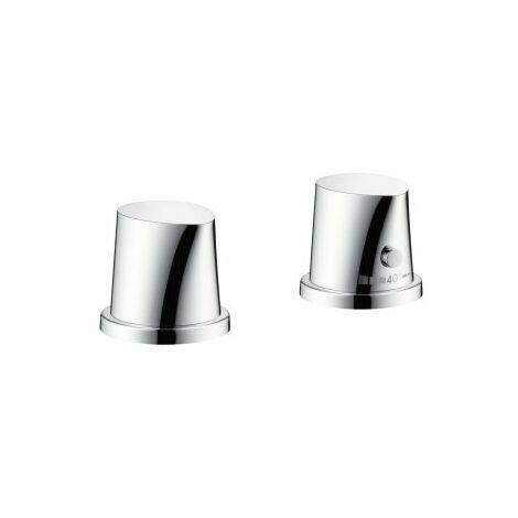 Hansgrohe AXOR Starck Bordes de bañera de 2 orificios con termostato, color: cromado - 12422000
