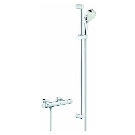 Grohe Grohtherm 800 Juego de ducha termostática Cosmopolitan, DN 15, con juego de ducha Tempesta C II, 900 mm, cromado - 34769000