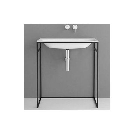 Bette Lux Lavabo empotrado para marco de lavabo, sin agujero para grifo, A171 800 x 495 mm, color: Blanco con BetteGlasur Plus - A171-000,PW