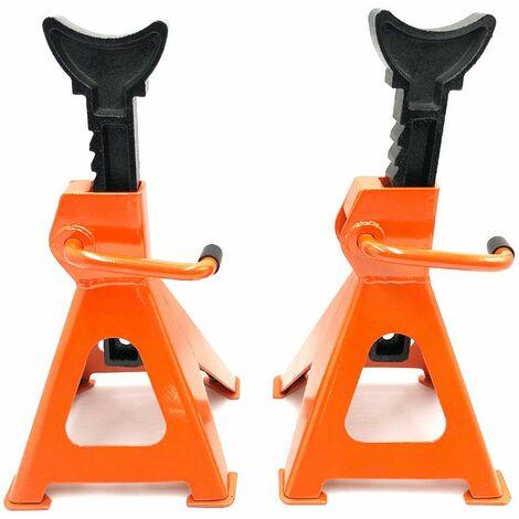 Jeu de chandelles acier/fonte PRO 3000 kg CE Ht. 280 à 420 mm pour atelier - 843030 - Beast