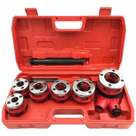 Coffret de 9 pcs filières 1/4, 3/8, 1/2, 3/4, 1, 5/4 spécial plombier - 623090 - Beast