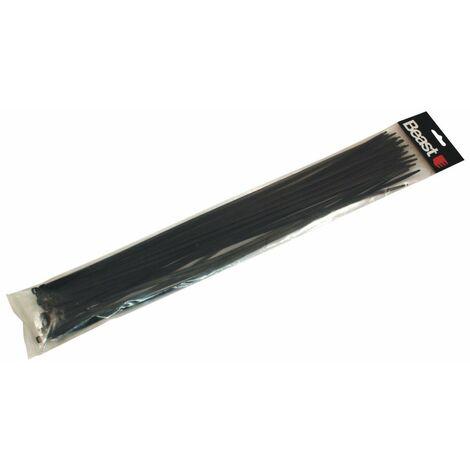 30 colliers de serrage nylon noir L. 500 x 4,7 mm - 198502 - Beast