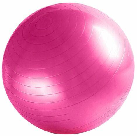 Ballon de gymnastique / fitness / grossesse anti-éclatement D. 65 cm en PVC (Rose) - D-Work