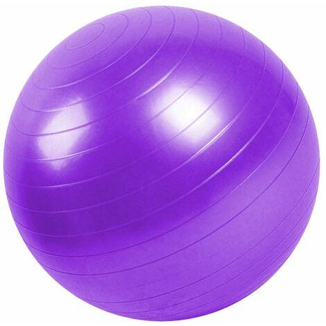 Ballon de gymnastique / fitness / grossesse anti-éclatement D. 65 cm en PVC (Violet) - D-Work